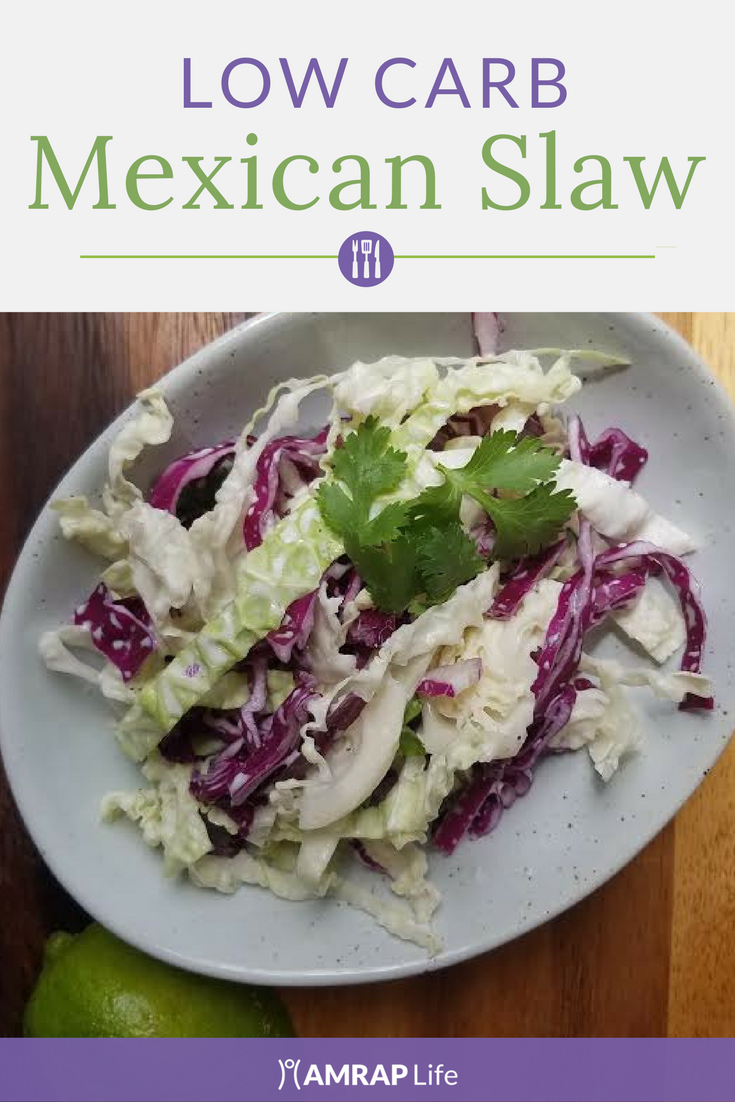 Savory Low Carb Mexican Slaw