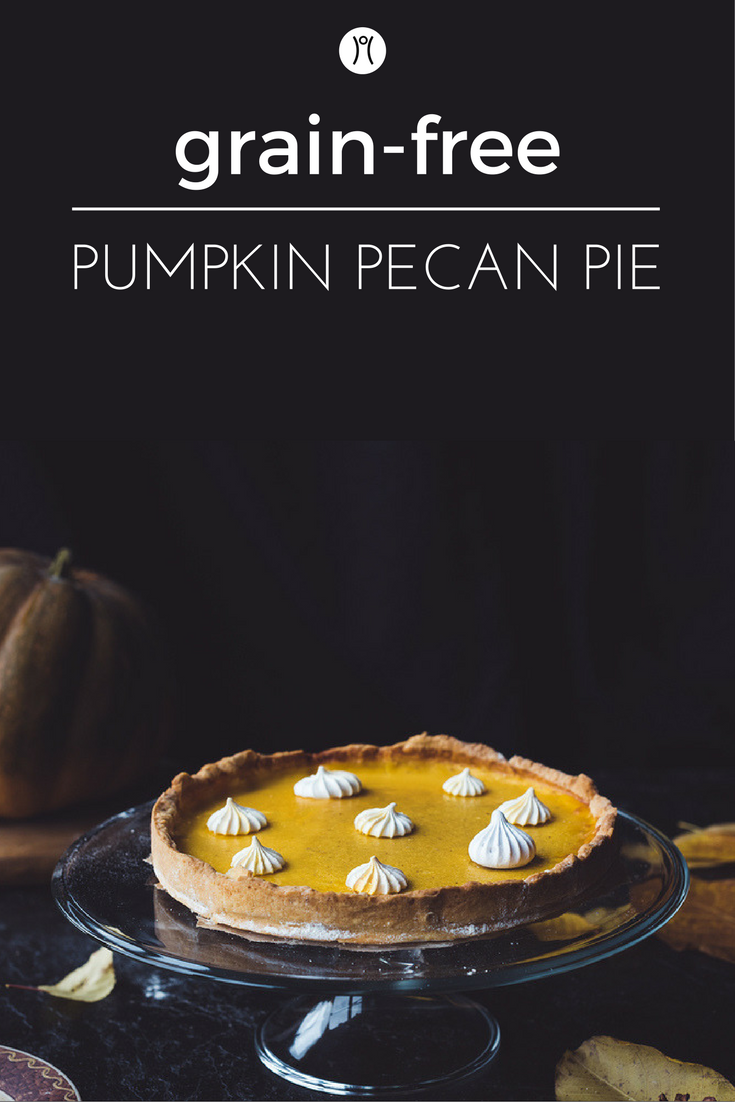8 Ingredient Grain-Free Pumpkin Pecan Pie