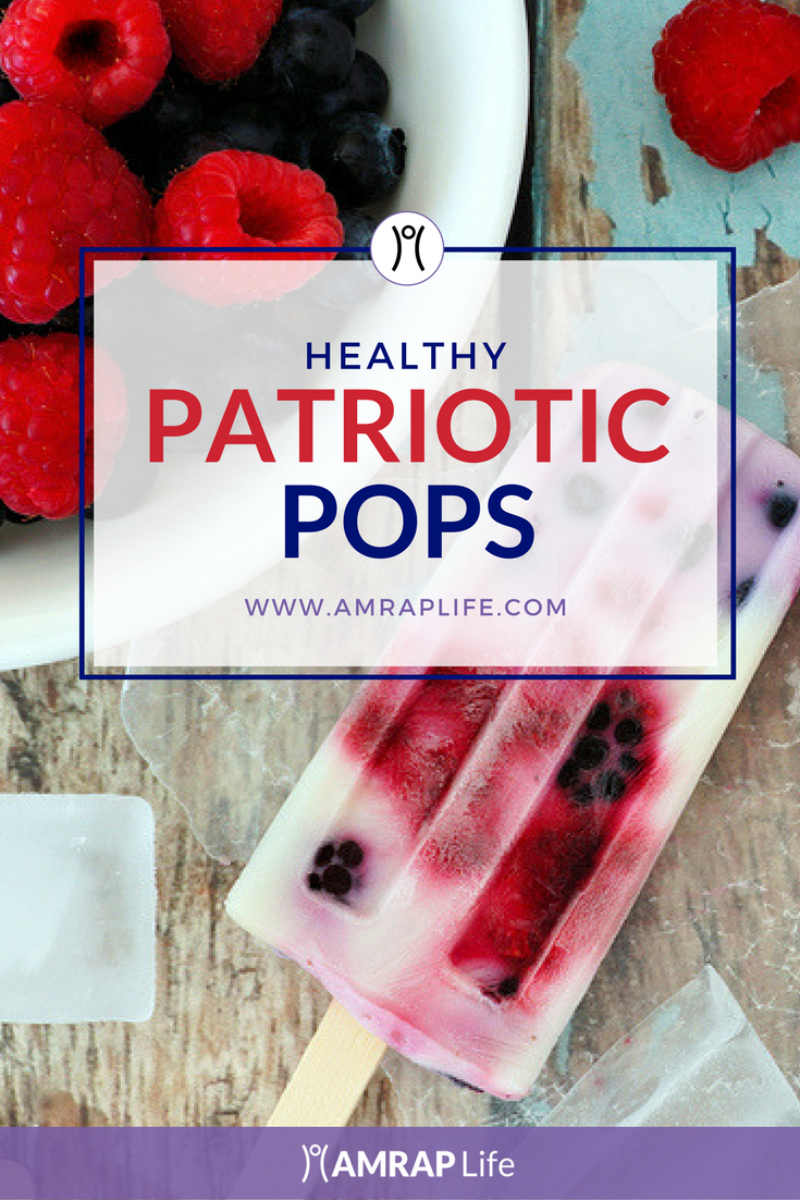 Healthy Patriotic Popsicles