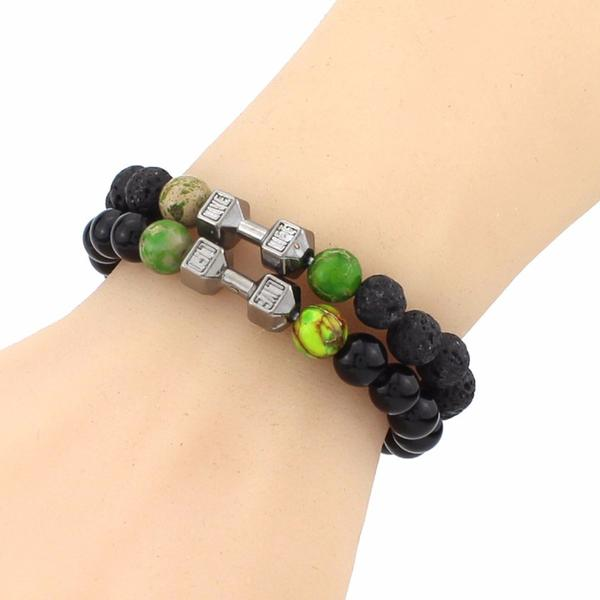Mindful Barbell Beaded Yoga Bracelet
