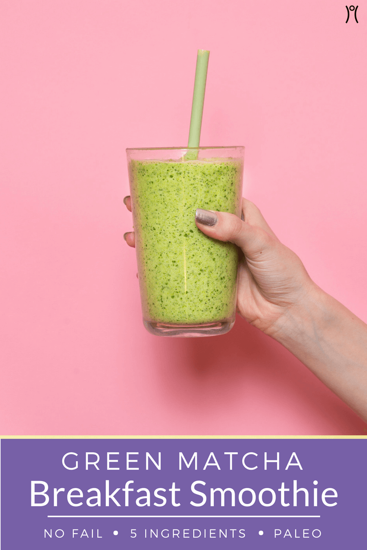Green Matcha Breakfast Smoothie
