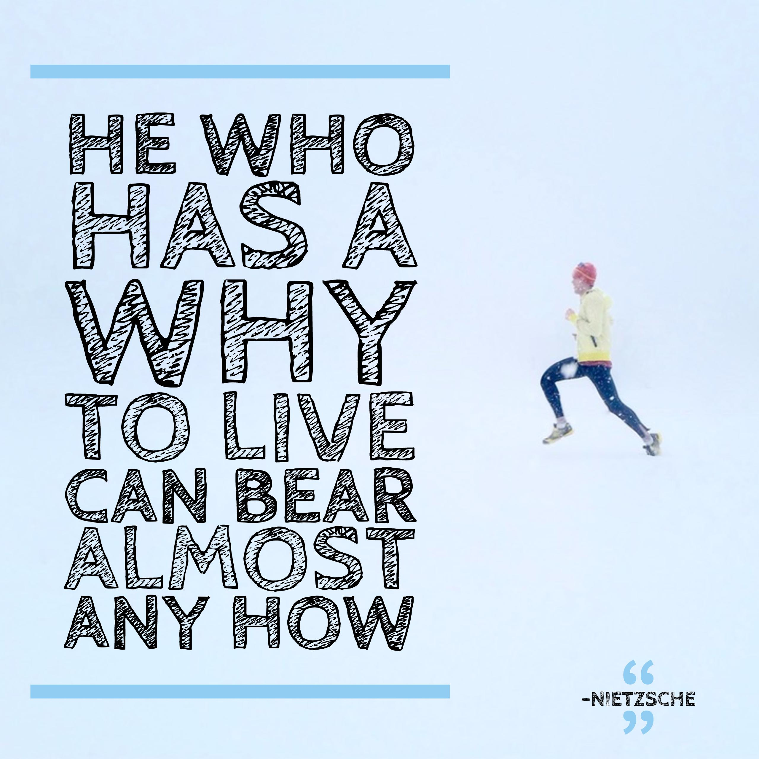 He who has a why can bear almost any how