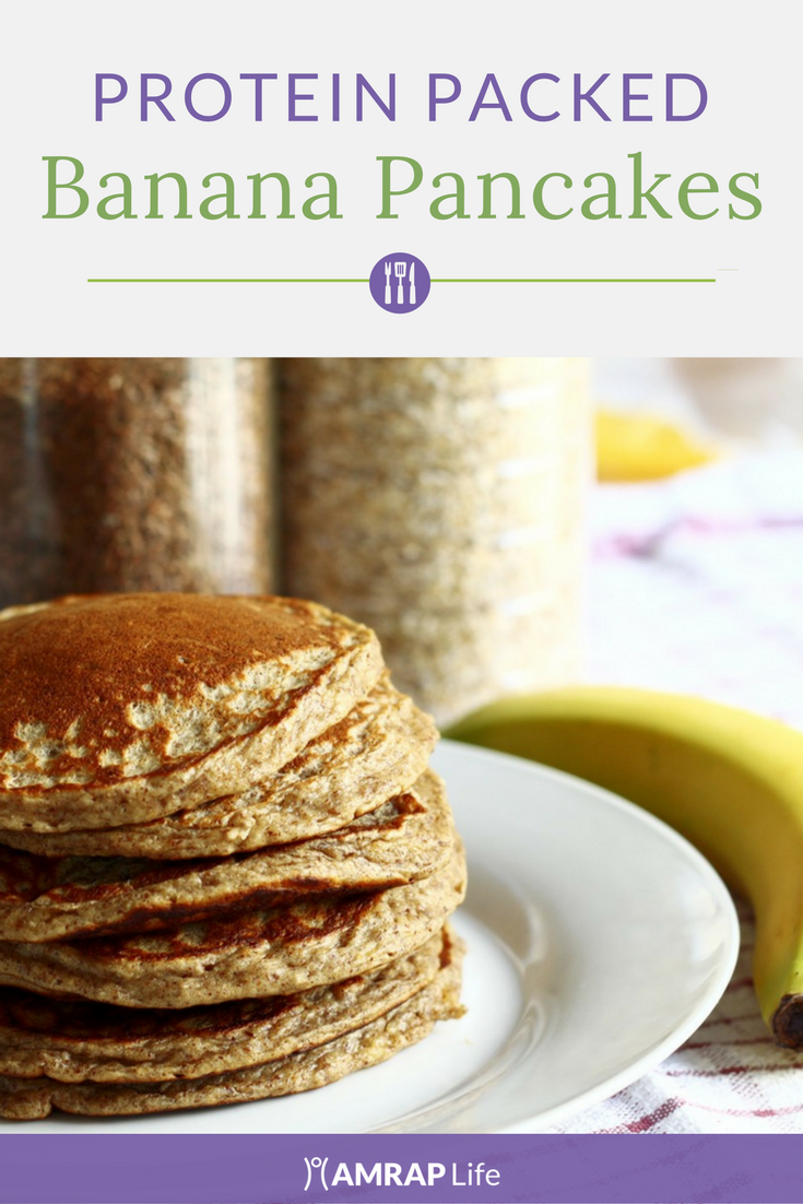 Fluffy, Protein Packed Banana Pancakes